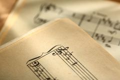 Classical music notes Royalty Free Stock Photos