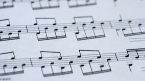 Classical Music Notes on the Sheet stock video