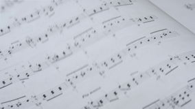 Classical Music Sheet stock footage