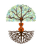 Classical music tree nature concept illustration Stock Photography