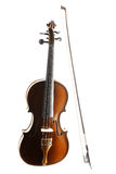 Classical music violin isolated Royalty Free Stock Images
