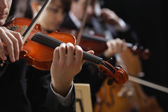 Classical music. Violinists in concert royalty free stock photos