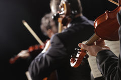Classical music. Violinists in concert Stock Images