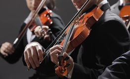 Classical music. Violinists in concert Royalty Free Stock Image