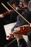 Classical music. Violinists in concert Royalty Free Stock Photography