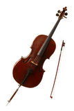 Classical musical instrument - cello Royalty Free Stock Photos