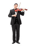 Classical musician playing a violin Royalty Free Stock Photo
