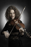 Classical musician violin player Royalty Free Stock Photo