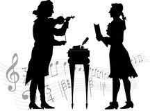 Classical musicians Stock Image