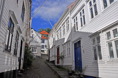 Classical norwegian wooden houses of Bergen, scandinavia Stock Photo