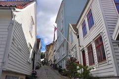 Classical norwegian wooden houses of Bergen, scandinavia Stock Photo