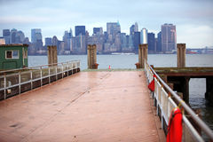 Classical NY. View to Manhattan from Liberty Island Stock Photography