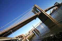 Classical NY -Brooklyn bridge Stock Photography