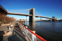 Classical NY - Brooklyn bridge Royalty Free Stock Image