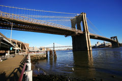 Classical NY Brooklyn bridge Royalty Free Stock Images