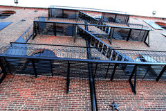Classical NY - fire stairway in Brooklyn royalty free stock images