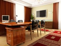 Classical office. In ADDEN 3d image Royalty Free Stock Photography