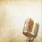 Classical old microphone background Royalty Free Stock Image