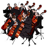 Classical orchestra stock illustration