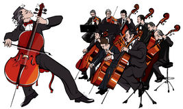 Classical orchestra royalty free illustration
