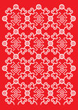 Classical Oriental Pattern. Red color traditional pattern design Stock Photos
