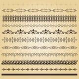 Classical ornamental borders. Classical ornamental vintage borders stock illustration