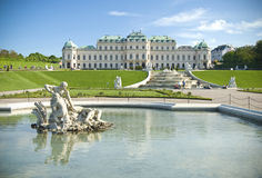 Classical palace building with fountains Stock Photo