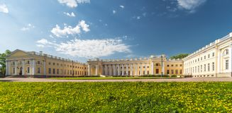 Classical palace view royalty free stock photo