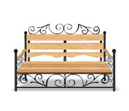 Classical park bench. Vector illustration Stock Image