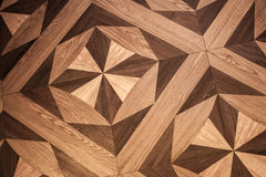 Classical pattern of old brown oak parquet Stock Photos
