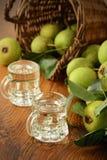 Classical pear liquor made of European wild pear Stock Photo