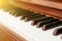 Classical piano with black and white keys Royalty Free Stock Image