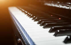Classical piano keys in modern black and white style Royalty Free Stock Images