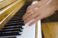 Classical piano playing Stock Image