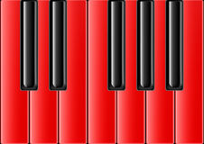 Classical piano with red keys Royalty Free Stock Photo