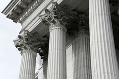 Classical pillars with portico detail Stock Photography