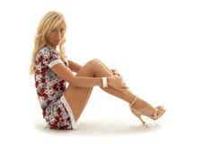 Classical pin-up blond stock photos