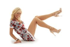 Classical Pin-up Blond 2 Stock Images