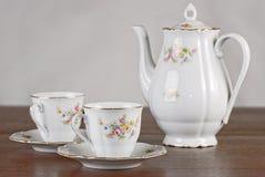 Classical porcelain tea set Stock Photography