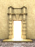 Classical portal. A 3d illustration of classical portal in to the Light royalty free illustration
