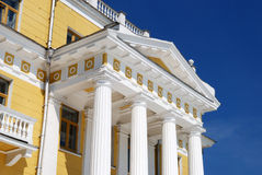 Classical portico. With white columns. Horizontal version royalty free stock photography