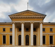 Classical porticos with columns. Royalty Free Stock Image