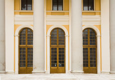 Classical porticos with columns. Royalty Free Stock Photos