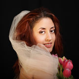 Classical portrait of a bride Stock Photo