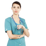 Classical portrait of young doctor woman Royalty Free Stock Image