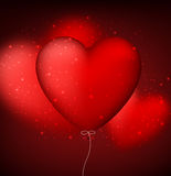 Classical red balloon heart background. Stock Image