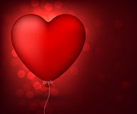 Classical red balloon heart. Stock Photo