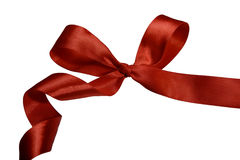 Classical red bow Stock Photography