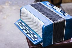 Classical retro bayan accordion, musical instrument vintage royalty free stock photos