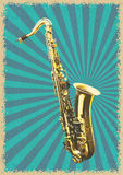 Classical saxophone vector Royalty Free Stock Images
